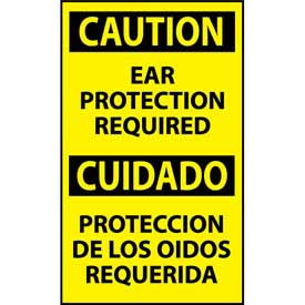Bilingual Machine Labels - Caution Ear Protection Required