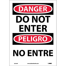 Bilingual Vinyl Sign - Danger Do Not Enter