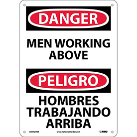 Bilingual Plastic Sign - Danger Men Working Above