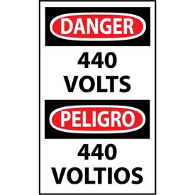 Bilingual Machine Labels - Danger 440 Volts