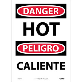 Bilingual Vinyl Sign - Danger Hot
