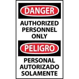 Bilingual Machine Labels - Danger Authorized Personnel Only