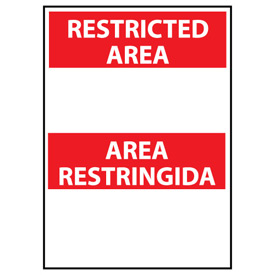 Restricted Area Vinyl - Bilingual - Area Restringida Blank with Header Only