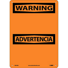 Bilingual Plastic Sign - Warning Blank