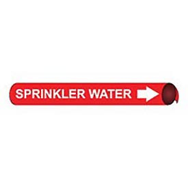 Precoiled and Strap-on Pipe Marker - Sprinkler Water