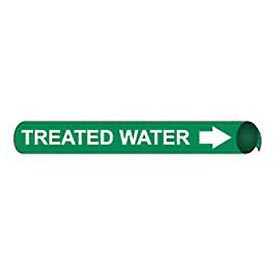 Precoiled and Strap-on Pipe Marker - Treated Water