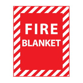 Fire Safety Sign - Fire Blanket - Plastic
