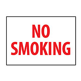 Fire Safety Sign No Smoking Plastic by