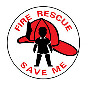 Fire Safety Sign Fire Rescue Save Me by