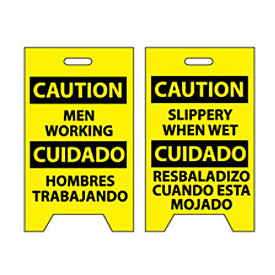 Floor Sign - Caution Men Working Cuidado Hombres Trabajando