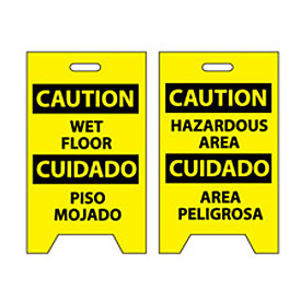 Floor Sign - Caution Wet Floor Cuidado Piso Mojado