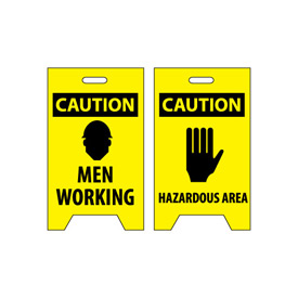 Floor Sign - Caution Men Working Hazardous Area