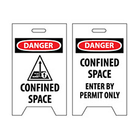 Floor Sign - Confined Space Enter By Permit Only