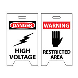 Floor Sign - Danger High Voltage Warning Restricted Area