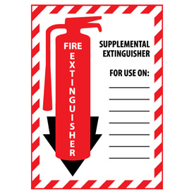 Fire Extinguisher Class Marker - Supplemental Extinguisher - Plastic