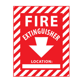 Fire Safety Sign Fire Extinguisher with Blank Space Vinyl by