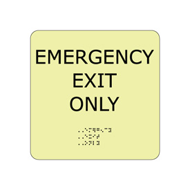 Glow Braille - Emergency Exit Only