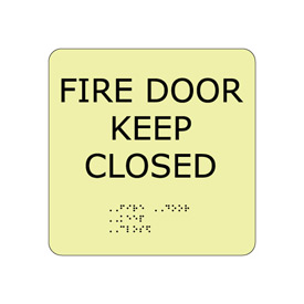 Glow Braille - Fire Door Keep Closed