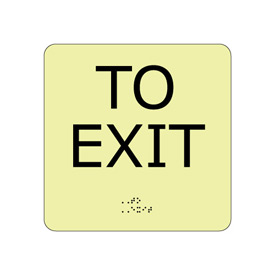 Glow Braille - To Exit