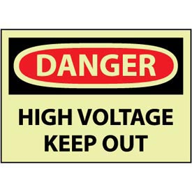 Machine Labels - Glow - Danger High Voltage Keep Out