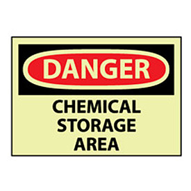 Glow Danger Vinyl - Chemical Storage Area