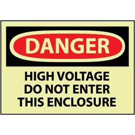 Machine Labels - Glow - Danger High Voltage Do Not Enter