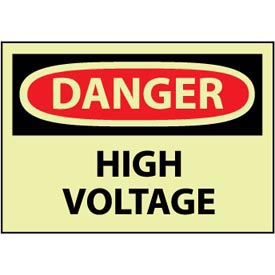 Machine Labels - Glow - Danger High Voltage