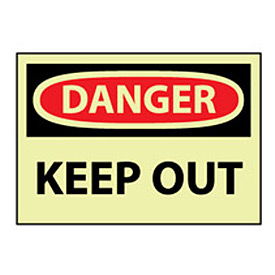 Glow Danger Rigid Plastic - Keep Out