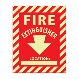 Glow Sign Vinyl - Fire Extinguisher Location