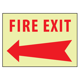 Glow Sign Vinyl - Left Arrow