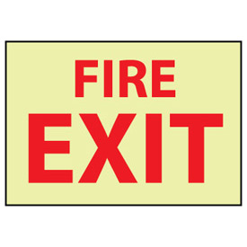 Glow Sign Rigid Plastic - Fire Exit