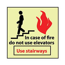 Glow Sign Vinyl - Do Not Use Elevators