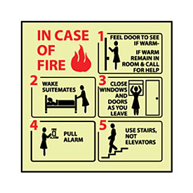 Glow Sign Vinyl - In Case Of Fire Feel Door