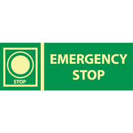 Glow Sign Rigid Plastic - Emergency Stop