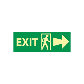 Glow Sign Rigid Plastic - Exit(w/ Door And Right Arrow)