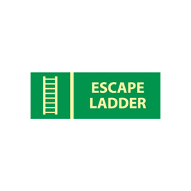 Glow Sign Rigid Plastic - Escape Ladder