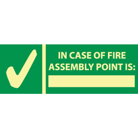 Glow Sign Vinyl - In Case Of Fire Assembly
