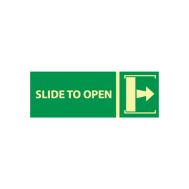 Glow Sign Rigid Plastic - Slide To Open(w/ Right Arrow)