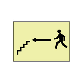Glow Sign Vinyl - Stairs Left Arrow Man