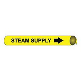 Precoiled and Strap-on Pipe Marker - Steam Supply