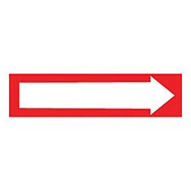 Pressure-Sensitive Pipe Marker - Direction Arrow Red, Pack Of 25