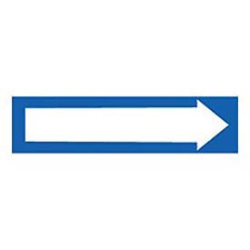 Pressure-Sensitive Pipe Marker - Direction Arrow Blue, Pack Of 25