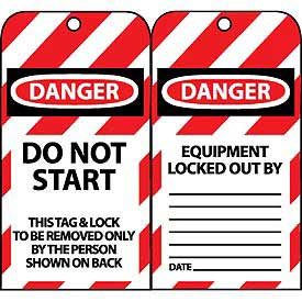 Lockout Tags - Do Not Start