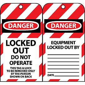 Lockout Tags - Locked Out Do Not Operate