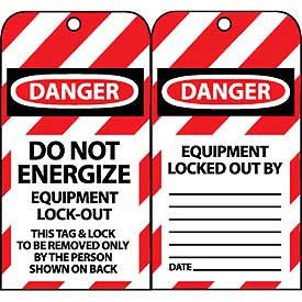 Lockout Tags - Do Not Energize Equipment Lock-Out
