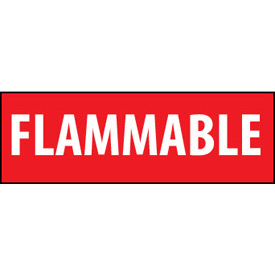 Fire Safety Sign Flammable Vinyl by