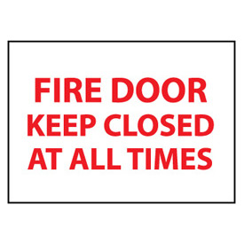 Fire Safety Sign - Fire Door Keep Closed At All Times - Vinyl