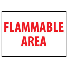 Fire Safety Sign Flammable Area Vinyl by
