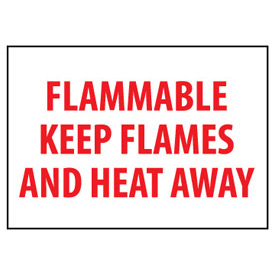 Fire Safety Sign Flammable Keep Flames And Heat Away Vinyl by