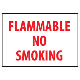 Fire Safety Sign Flammable No Smoking Vinyl by